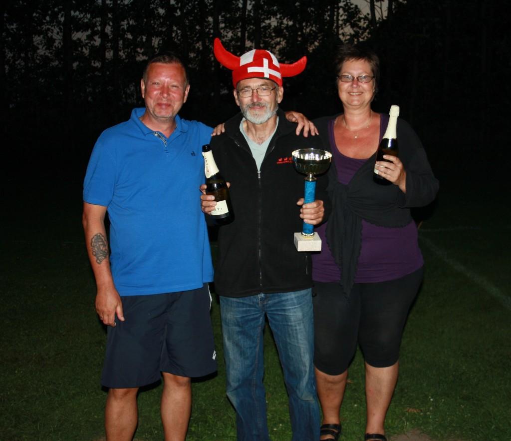 Vikingemester 2014: Jan TP, Kern og Jeanette.
